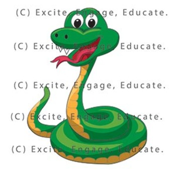 Animal Clipart - Cartoon Snake