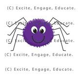 Animal Clipart - Cartoon Spider + Web
