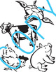 Animal Clipart - Color & Bl&Wh