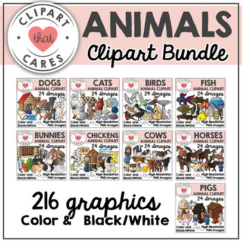 Animal Clipart Growing Bundle by Clipart That Cares