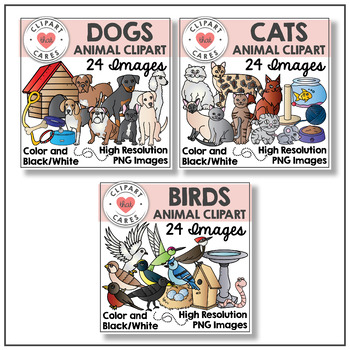 Animal Clipart Bundle by Clipart That Cares