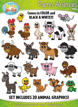 Animal Clipart Collection Mega Bundle {Zip-A-Dee-Doo-Dah Designs}