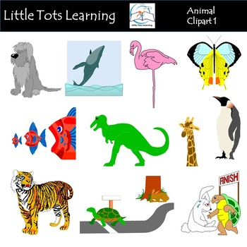 Animals Clip Art Mega Bundle 1 - Farm Animals, Wild Animals, Forest & Aquatic