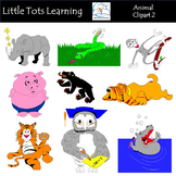 Animals Clip Art Bundle 2 - Farm Animals, Wild Animals, Forest & Aquatic