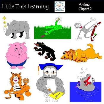 Animals Clip Art Bundle 2 - Farm Animals, Wild Animals, Forest & Aquatic