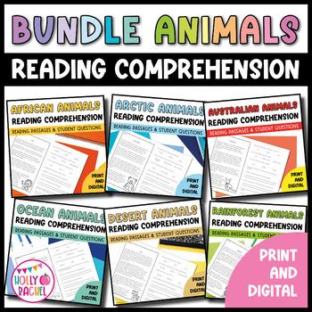 Animals Close Reading Bundle
