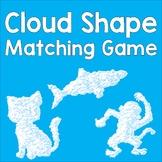 Animal Cloud Shape Matching Game Freebie