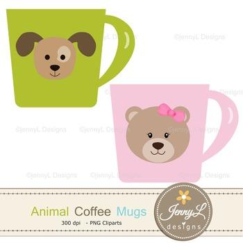 Animal Coffee Mugs clipart