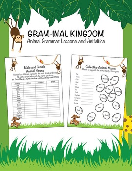 No Prep Learning.  Grammar and Animals