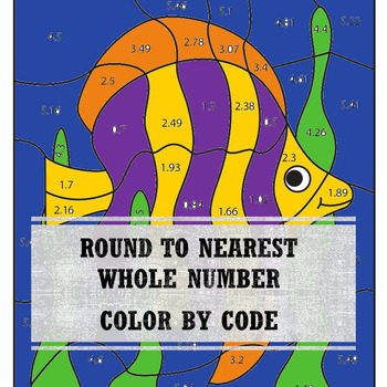 Animal Color By Numbers Round to the Nearest Whole Number