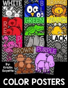 Animal Color Posters {Chevron/Chalkboard}