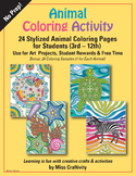 Animal Coloring Activity