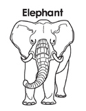 Animal Coloring Page: Elephant