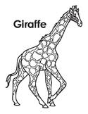 Animal Coloring Page: Giraffe
