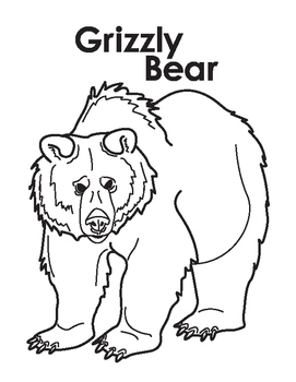 Grizzly Bear Coloring Pages - Coloring Pages Kids 2019 | 350x271
