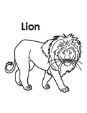 Animal Coloring Page: Lion