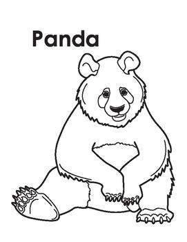Animal Coloring Page: Panda