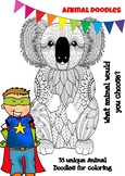 Mindfulness Coloring Page - 35 Animals