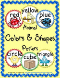 Animal Colors and Shapes Posters (round)