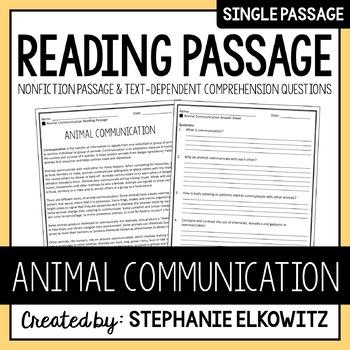 Animal Communication Reading Passage
