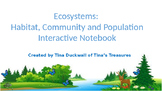 Animal Community and Population in a Habitat Interactive Notebook