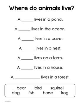 Animal Comparisons Unit - Same & Different