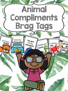 Animal Compliments Brag Tags