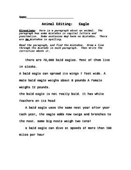 animal comprehension paragraph punctuation editing worksheets bundle 2. Black Bedroom Furniture Sets. Home Design Ideas