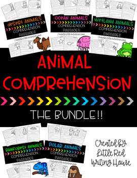 Animal Comprehension Passages {THE BUNDLE}