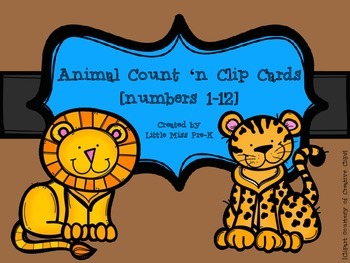 Animal Count and Clip Cards (1-12)