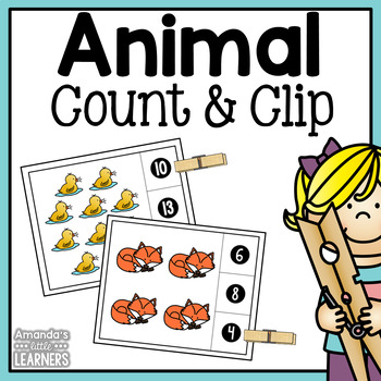 Count and Clip Cards - Animals