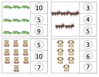 Animal Count and Clip Cards - Counting 1-10