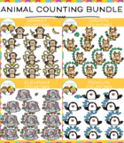 Animal Counting Clip Art Bundle