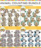 Animal Counting Clip Art Bundle