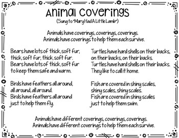 Animal Coverings  (A Pocket Chart Activity)