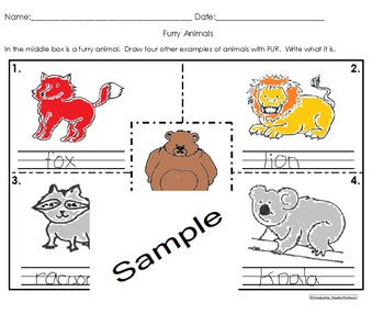 Animal Coverings Activities Pack Science Cscope Common Core
