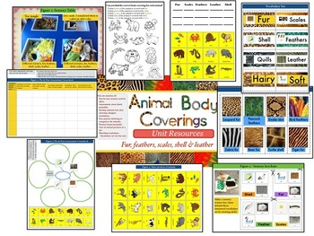 Animal Body Coverings Unit Resources