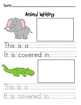 Animal Coverings Writing Activity