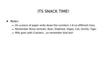 Animal Cracker Game