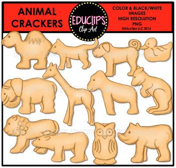 Animal Crackers Clip Art Bundle {Educlips Clipart}