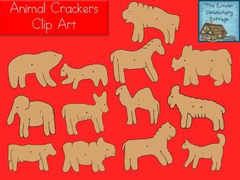 Animal Crackers Clip Art Set {Personal & Commercial Use}