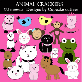 Animal Crackers Digital Clip Art Set