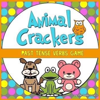 Animal Crackers - Past Tense Verbs Card Game