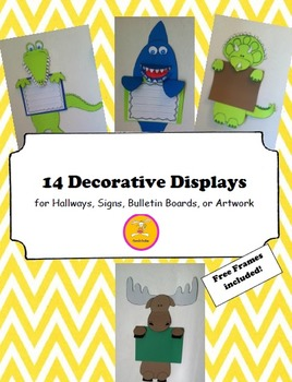 Animal Craft -  Displays for Writing, Art, or Bulletin Boards