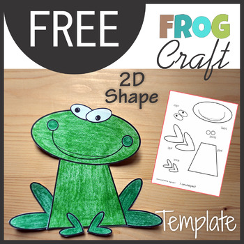 Animal Craft Frog - Template Cut and Paste by KM Classroom | TpT
