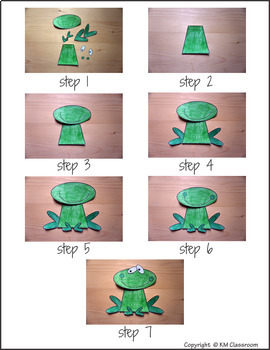 Animal Craft Frog - Template Cut and Paste
