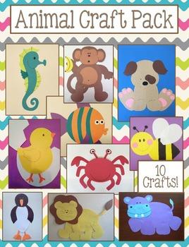 Animal Craft Pack - 10 Craft Bundle