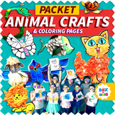 Animal Crafts Packet (Fun Art Projects for Distance Learning)