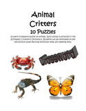 Animal Critters - 10 Crossword Puzzles