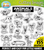 Animal Cutting Images Clipart Bundle (155 Graphics) {Zip-A-Dee-Doo-Dah Designs}